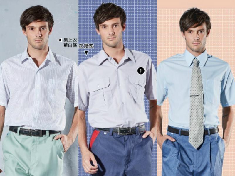 男短袖: 藍條1027、米通1026、淺灰1021、青藍條1025、水青1024、淺水1023
