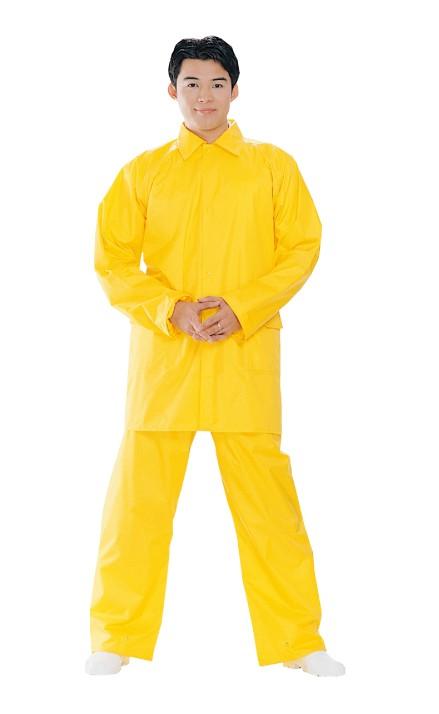 【達新牌】男耐反光雨衣黃色B15