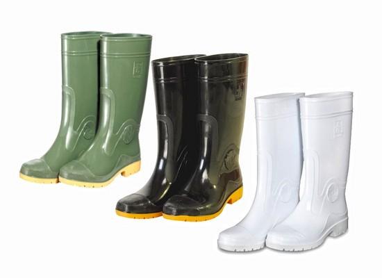 【達新牌】勁帥男長統雨鞋:白A01、綠A02、黑A03