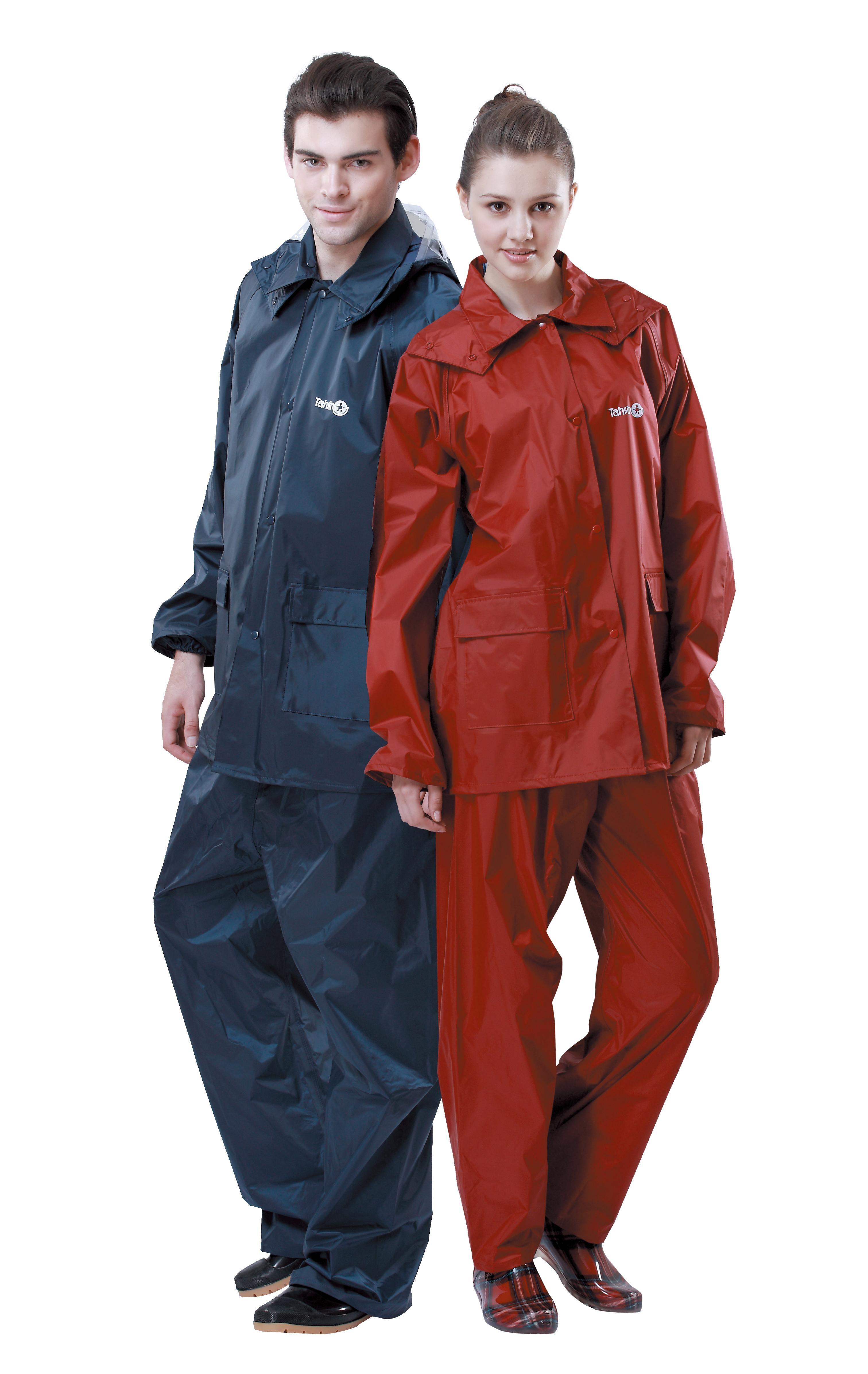 【達新牌】挺麗型雨衣:男深藍,女酒紅   B13/B14