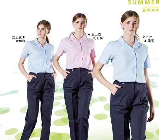 女短袖:藍條1017、米通1016、粉紅條1015、紅白條1011、青藍條1014、水青1013、淺水1012