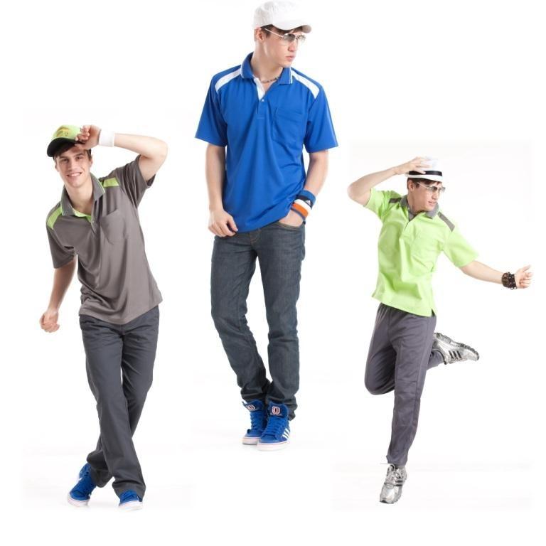短袖排汗衣:男寶藍S7306、男螢光綠S7307、男深灰S7308