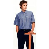 短袖牛仔衣襯衫1051