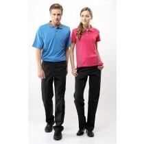 短袖奈米竹炭排汗衣:男時尚藍TS1552、女玫瑰桃TS1551