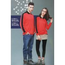 長袖上衣:男衣TJ-7554番茄紅/黑、女衣TJ-7553番茄紅/黑