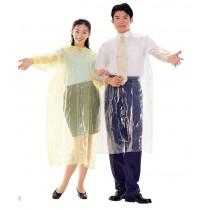 【達新牌】簡便型(透明)雨衣:黃B28(50入)