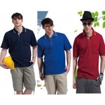 短袖吸濕排汗衣:男酒紅P901、男寶藍P902、男深藍P903
