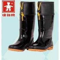 【達新牌】女豪美雨鞋(加束口)黑色雨鞋A17