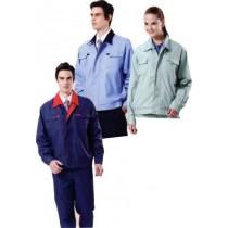 雙層夾克: 淺果綠2245、水藍/深藍領2246、鐵藍/紅領2247