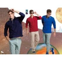 長袖吸濕排汗衣:男深藍P903B、男酒紅P901B、男寶藍P902B