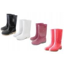 【達新牌】麗仕女長統雨鞋:玫瑰紅A05、白A06、A14粉紅、A16黑
