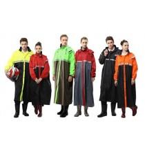 【達新牌】達新將環保全開雨衣:B49螢光黃/黑、B50紅/黑、B52橙/黑、B54萊姆綠/軍綠、B55紅/灰