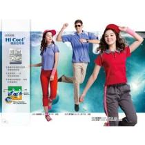短袖排汗衣:女湖藍S5301、男湖藍S7301、女酒紅S5303